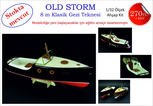 kit, model, old storm, ahşap maket